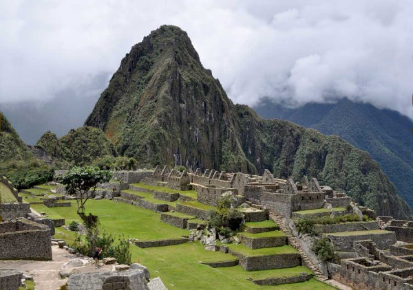 Vy över Machu Picchu