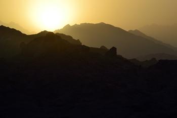 Solnedgång över dynerna