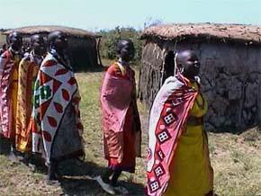 Massaikvinnor sjunger