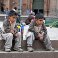Två invånare i Cuzco